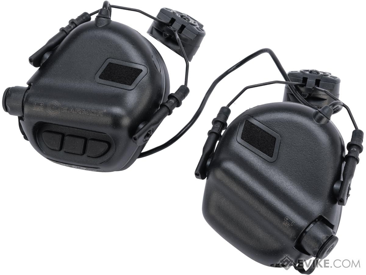 Earmor M31H MOD3 Tactical Communication Hearing Protector for ARC FAST MT Helmets (Color: Black)
