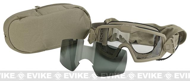 Smith Optics Outside the Wire Turbo Fan Goggle w/ Smoked and Clear Lens (Color: Tan 499)