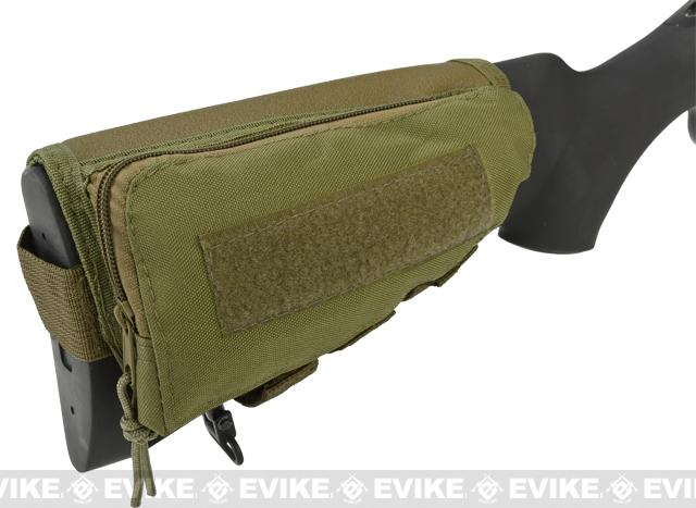 Modify Rifle Stock Ammo Pouch w/ Cheek Pad - Tan