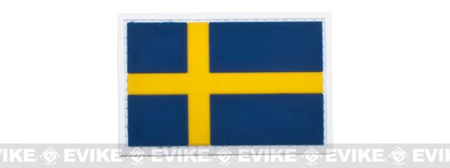 PVC Hook and Loop International Flag Patch (Flag: Sweden)