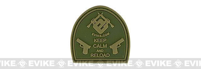 Evike.com Keep Calm PVC Morale Patch - OD Green