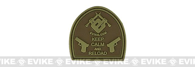 Evike.com Keep Calm PVC Morale Patch - Tan