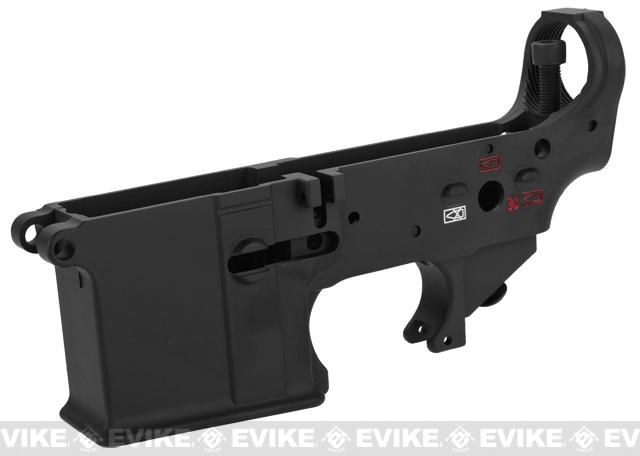 WE-Tech OEM Replacement Lower Receiver for WE M4-SOL Series GBB Rifles - Part# 105 (Black w/ Color Fill)