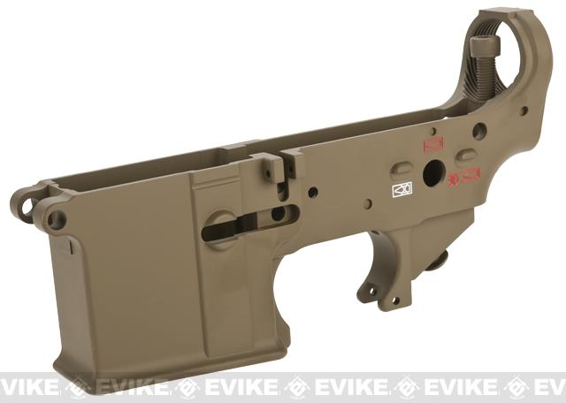 WE-Tech OEM Replacement Lower Receiver for WE M4-SOL Series GBB Rifles - Part# 105 (Tan w/ Color Fill)