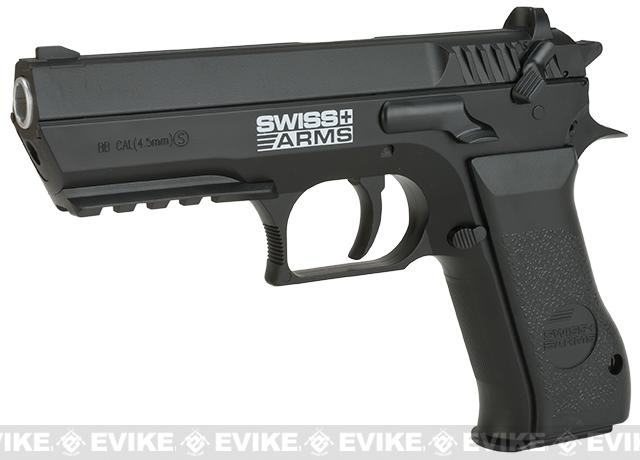 Swiss Arms 941 Jericho CO2 Powered .177 Airgun Pistol (Color: Black)