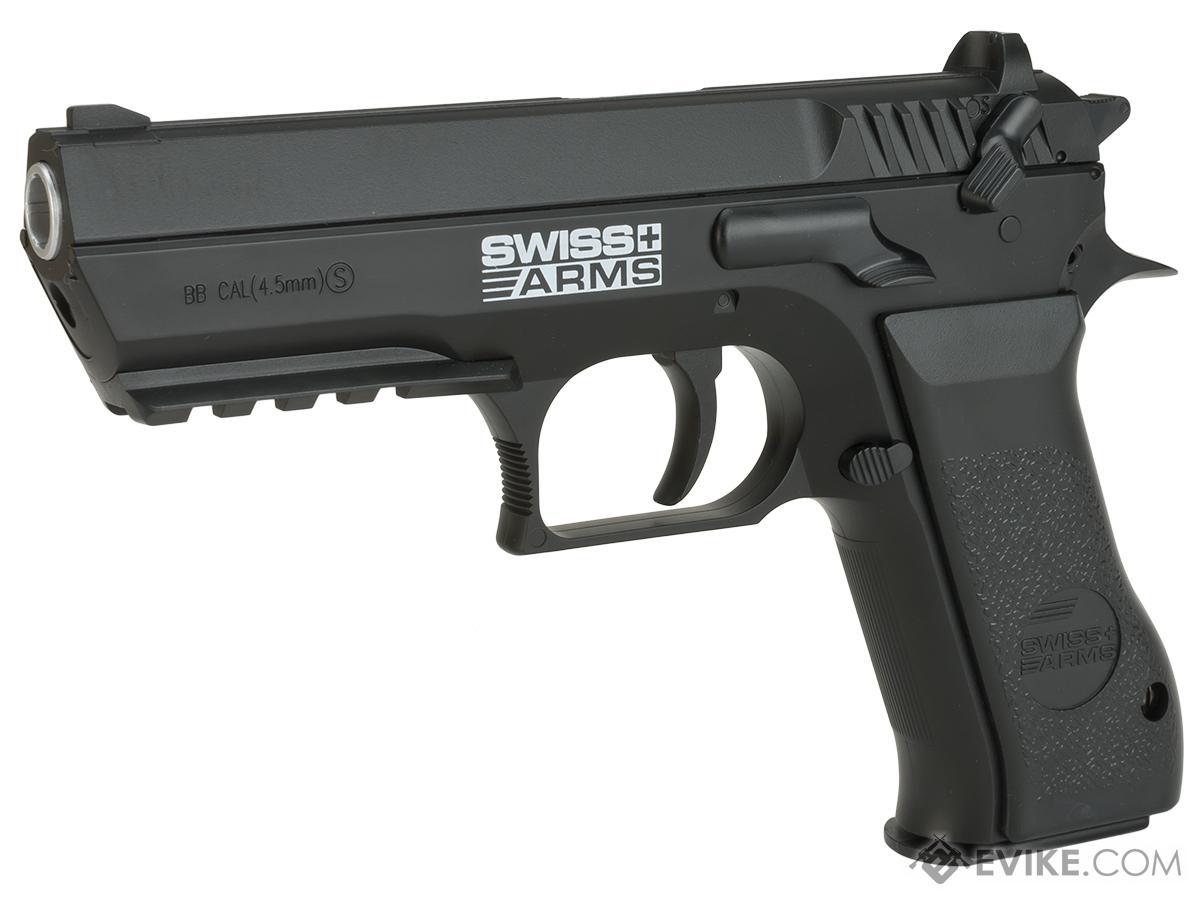 Swiss Arms 941 Jericho CO2 Powered .177 Airgun Pistol (Color: Black)