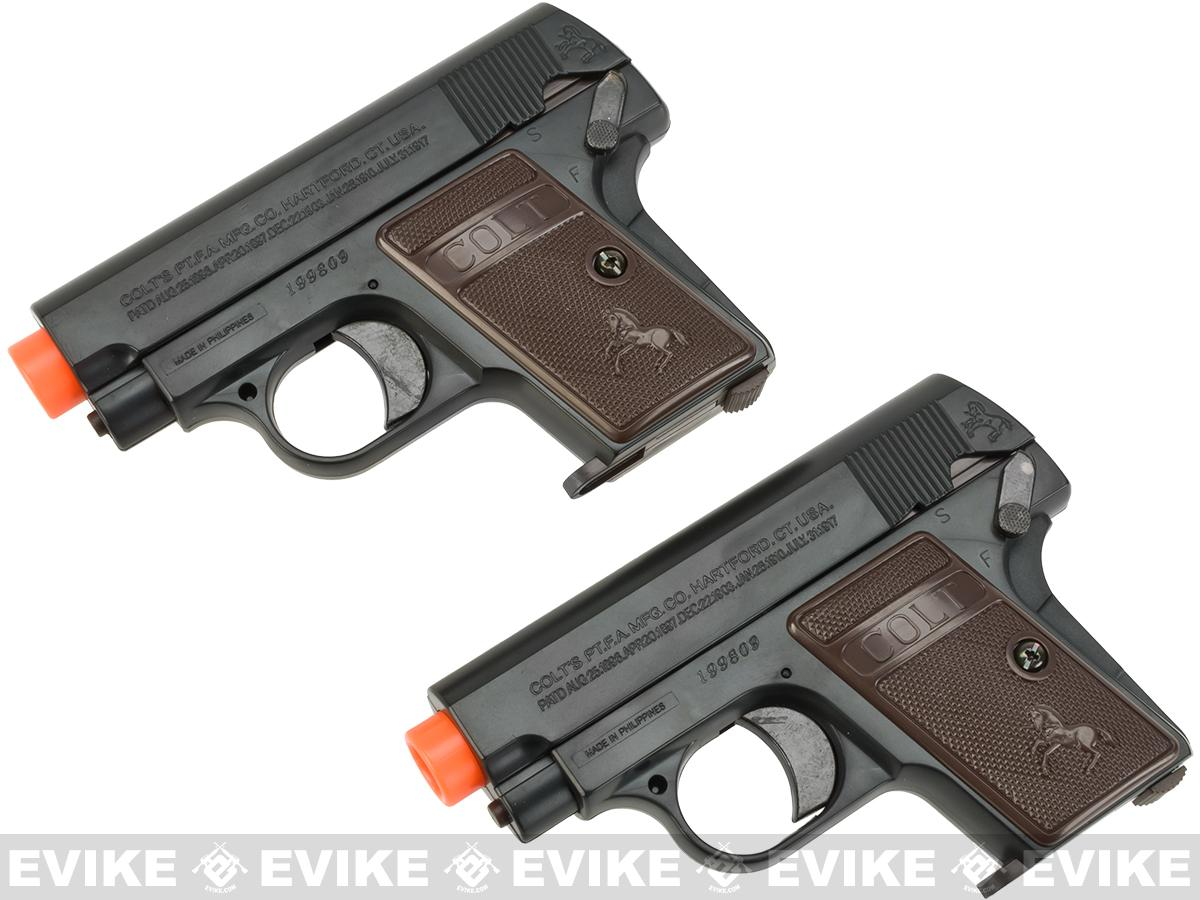 Colt Licensed 1908 Vest Pocket Hammerless Airsoft Pistol - Set of 2
