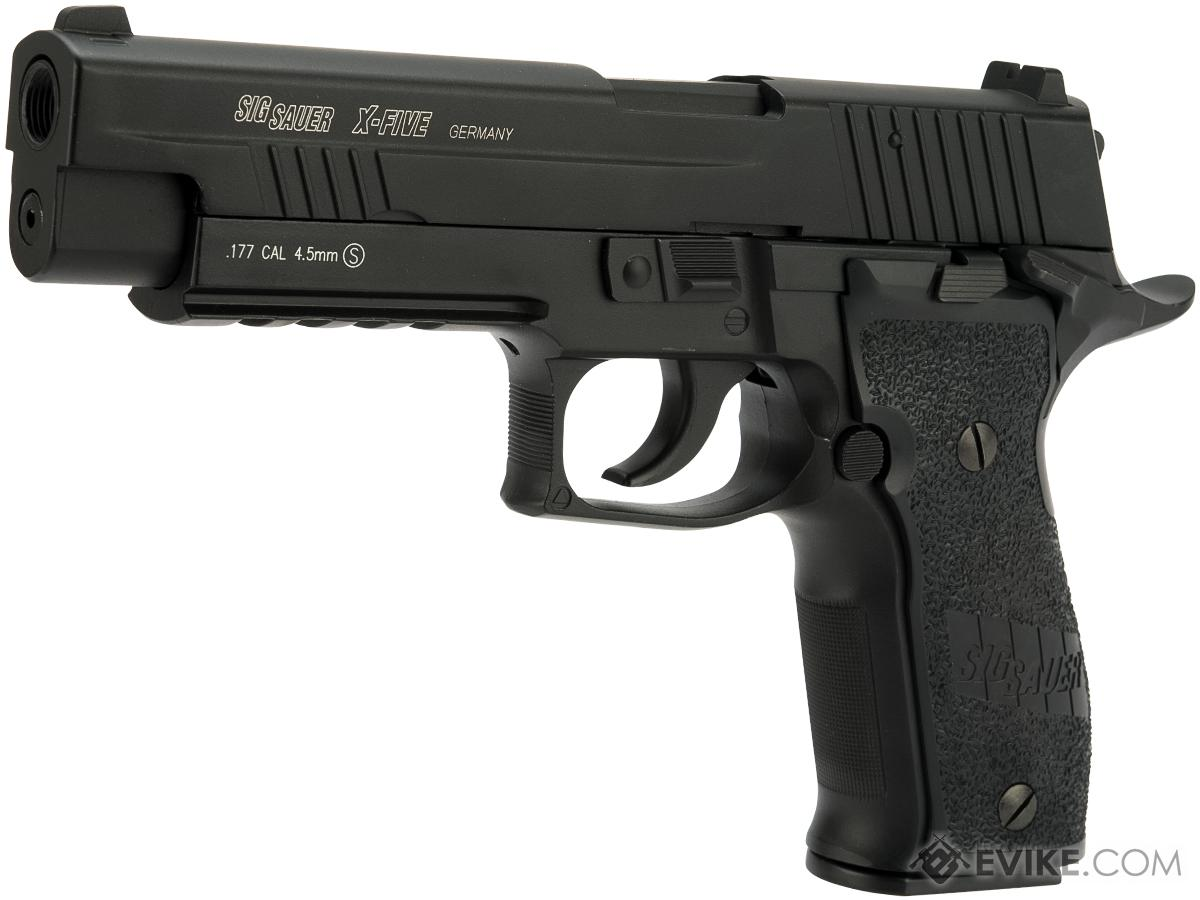 SIG Sauer X-Five CO2 Powered Blowback 4.5mm Airgun Pistol AIRGUN NOT AIRSOFT (Color: Black)