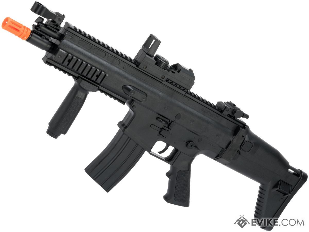 FN Herstal Licensed SCAR-L Full Size Entry Level Airsoft AEG Rifle by Cybergun (Color: Black)