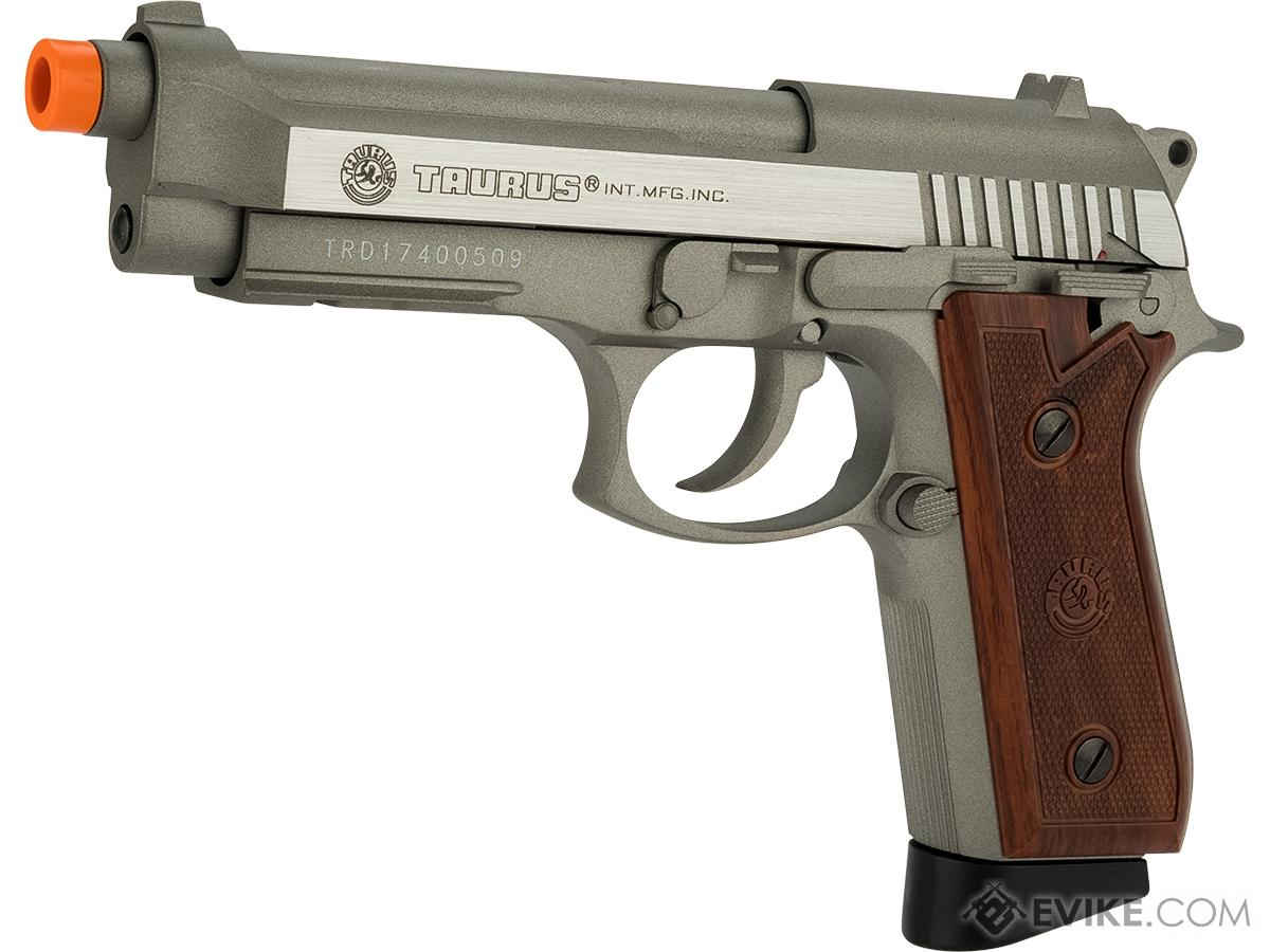 Taurus PT92 Full Metal CO2 Powered Blowback Airsoft Pistol by KWC (Color: Brushed Stainless)