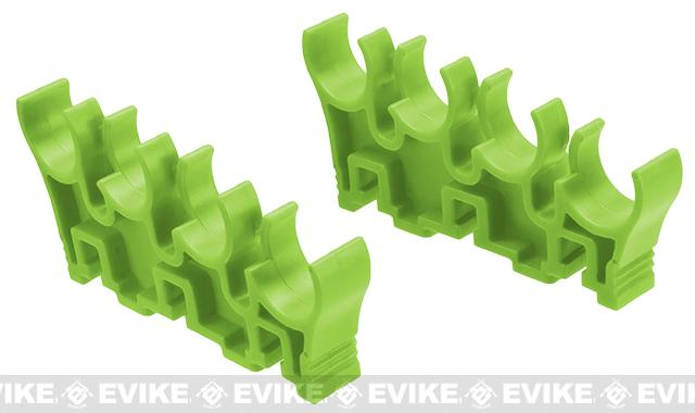 Shotshell Clips for APS Shotshell Caddy System (Color: Green / 8 Round)