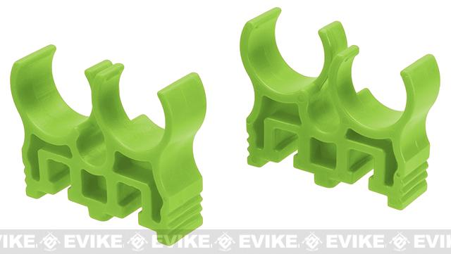 Shotshell Clips for APS Shotshell Caddy System (Color: Green / 4 Round)