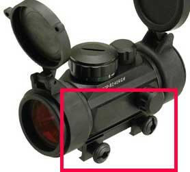 Spare QD Knobs for Matrix 1x30 (40, 50) Red / Green Red Dot Scope Series (Scope Not Included)