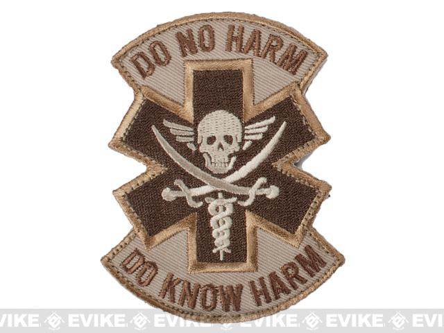 Mil-Spec Monkey Do No Harm - Pirate Embroidered Morale Patch (Color: Desert)