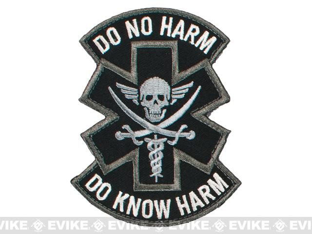 Mil-Spec Monkey Do No Harm - Pirate Hook and Loop Patch - SWAT