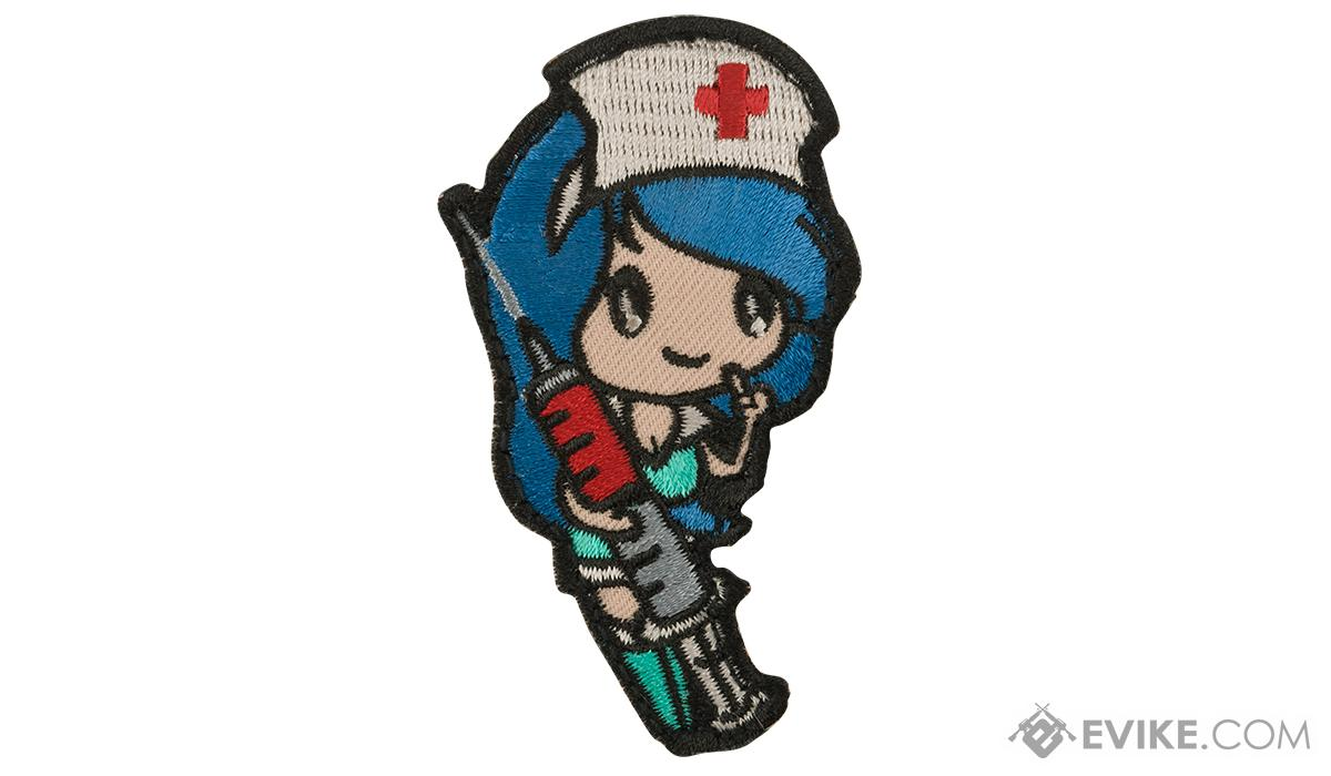 Mil-Spec Monkey Nurse Girl Morale Patch (Color: Blue)