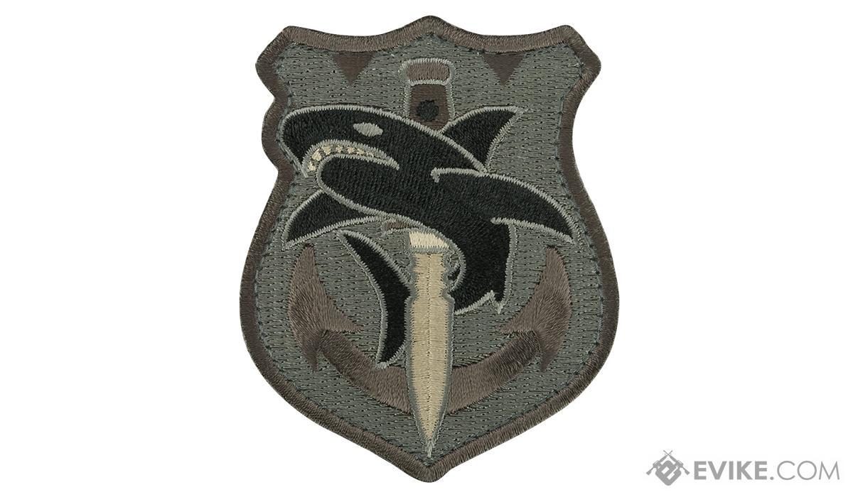 Mil-Spec Monkey Tactical Shark Morale Patch (Color: ACU)