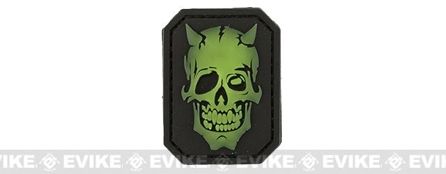 Mil-Spec Monkey MM Devil Skull PVC Patch - Glow In The Dark