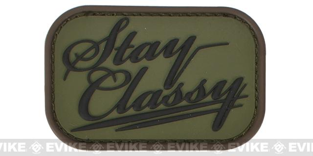Mil-Spec Monkey Stay Classy PVC Hook and Loop Patch - Forest