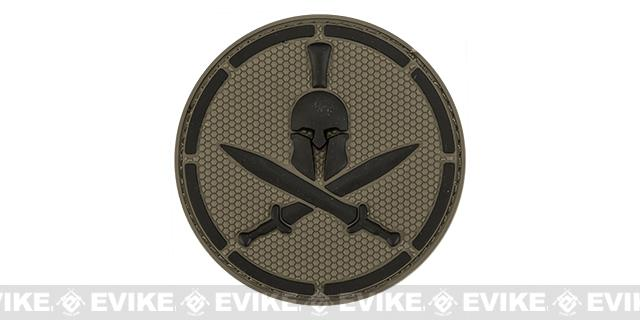 Mil-Spec Monkey Spartan Helmet PVC Hook and Loop Patch - ACU Dark