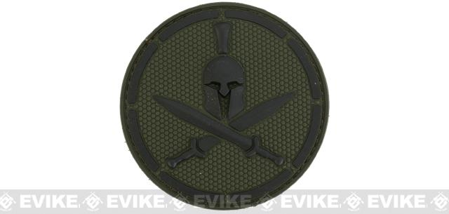Mil-Spec Monkey Spartan Helmet PVC Hook and Loop Patch - Forest