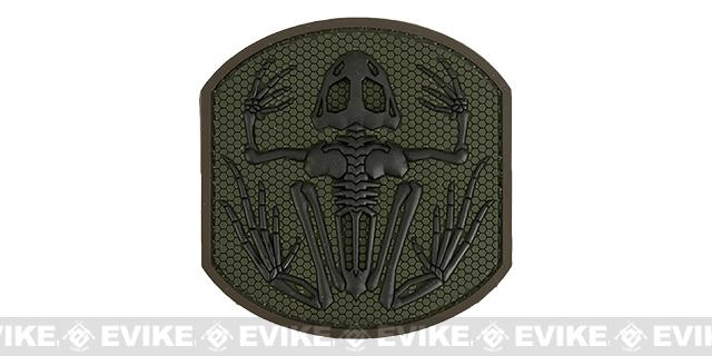 Mil-Spec Monkey Skull Frog PVC Hook and Loop Patch - Forest
