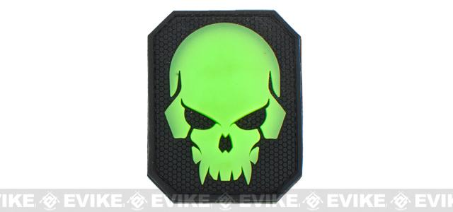 Mil-Spec Monkey Pirate Skull - Large PVC Patch - Green Glow
