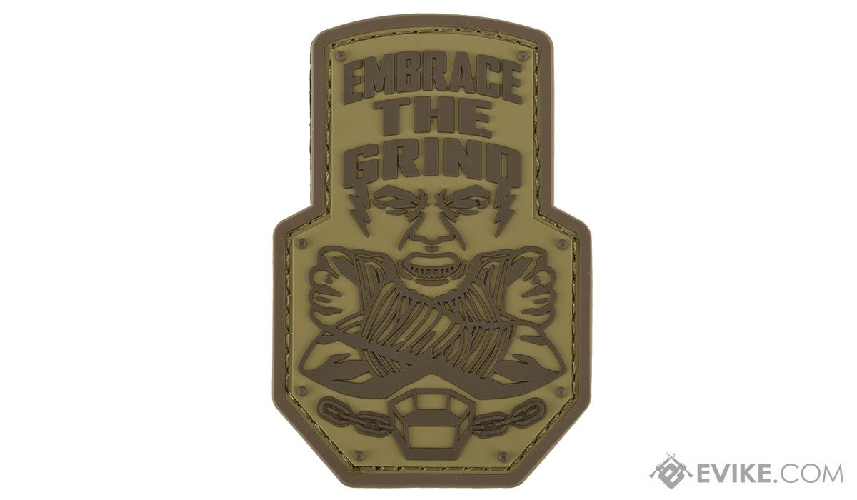 Mil-Spec Monkey Embrace the Grind PVC Morale Patch (Color: Desert)