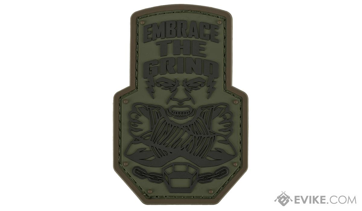 Mil-Spec Monkey Embrace the Grind PVC Morale Patch (Color: Forest)