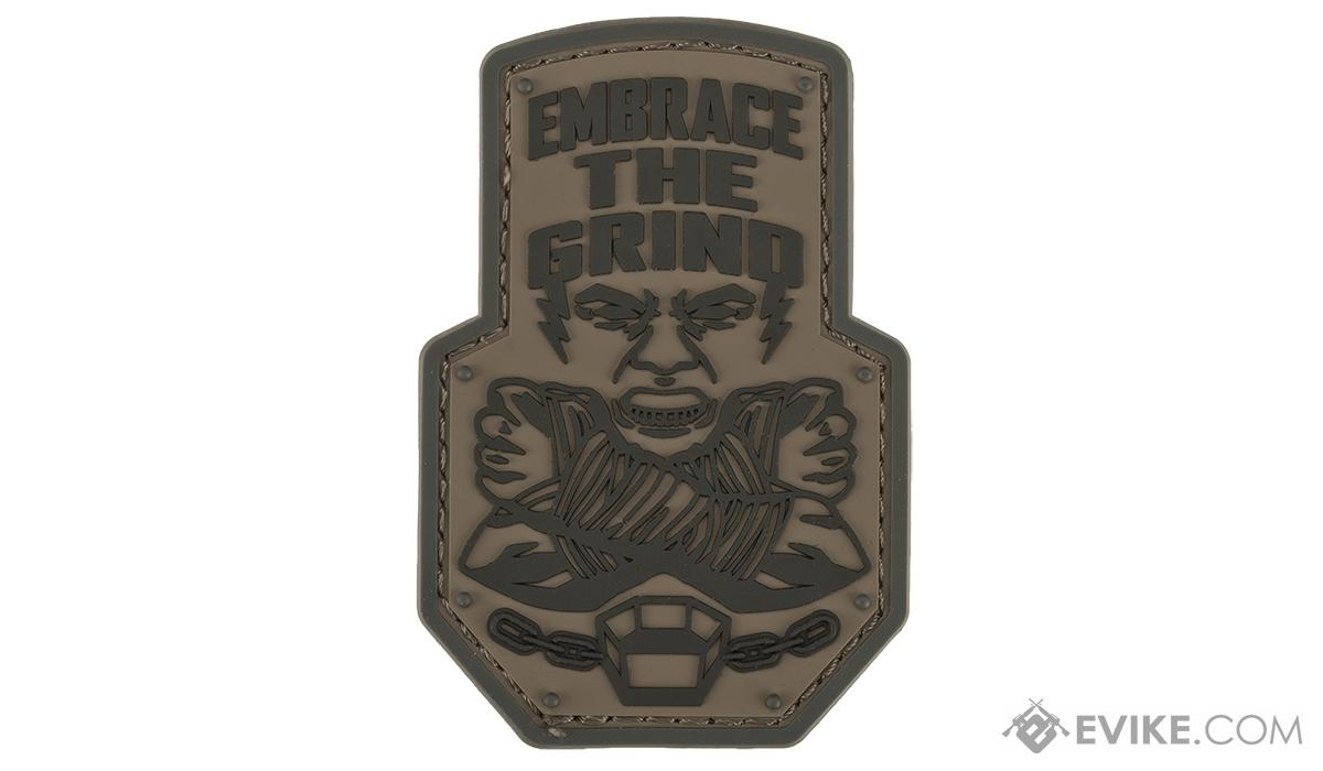 Mil-Spec Monkey Embrace the Grind PVC Morale Patch (Color: Urban)