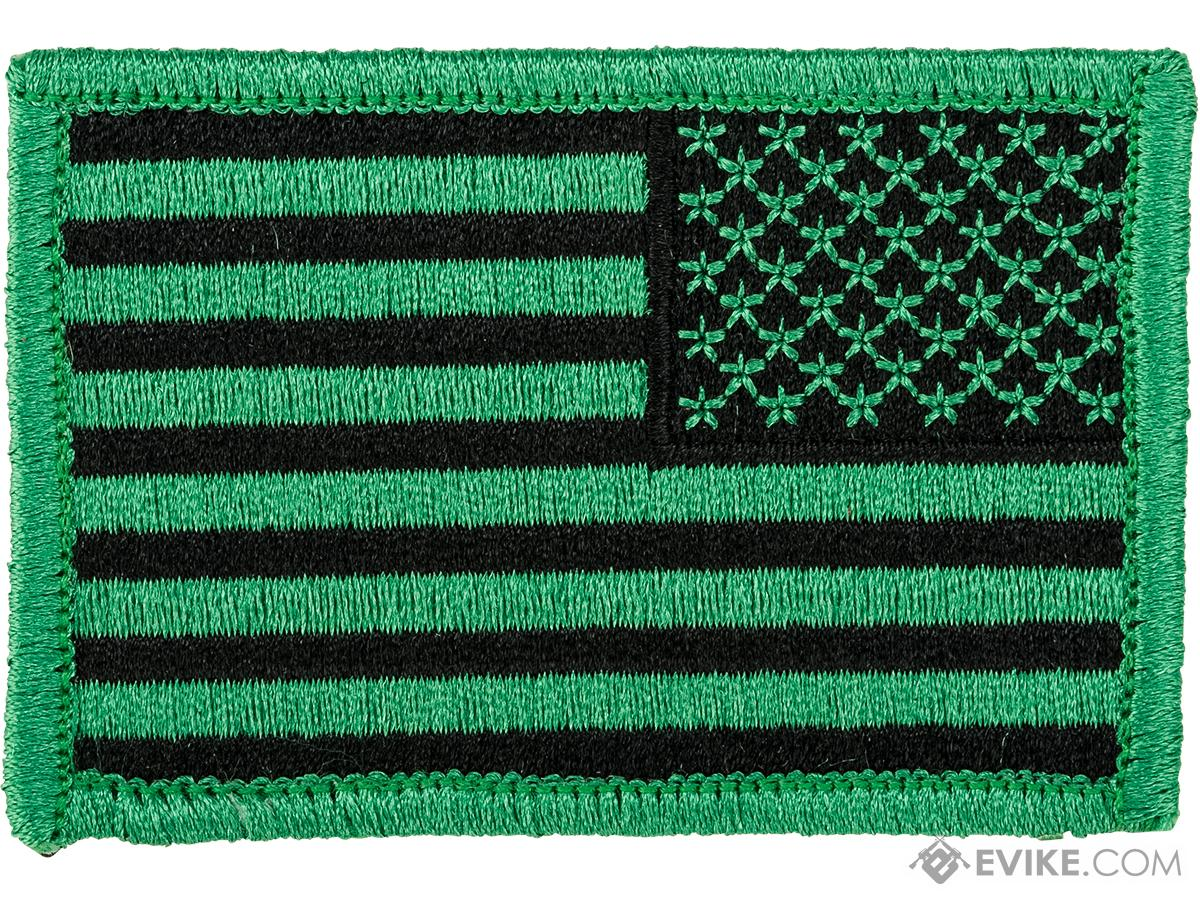 Matrix Hook and Loop U.S. IFF Flag Patch (Color: Green / Reversed)