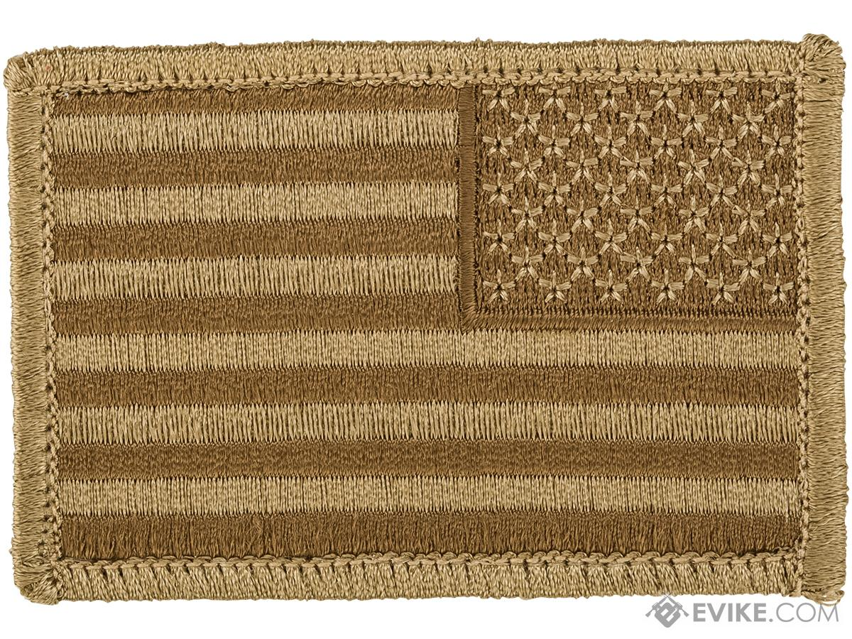 Matrix Hook and Loop U.S. IFF Flag Patch (Color: Desert / Reversed)