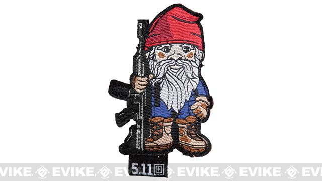 5.11 Tactical Tactical Gnome Embroidered Hook and Loop Morale Patch - Range Red