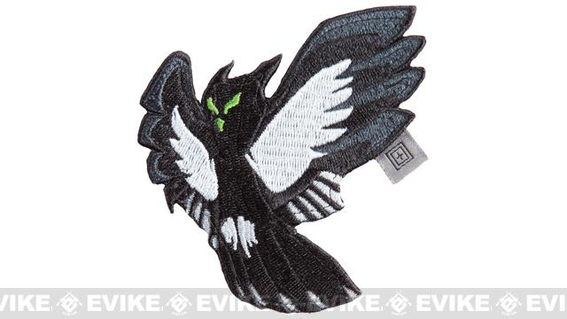 5.11 Tactical Owl Reaper Embroidered Hook & Loop  Morale Patch - Black
