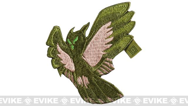 z 5.11 Tactical Owl Reaper Embroidered Hook & Loop Morale Patch - Sand