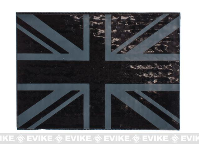 Reflective UK Flag Patch - Black