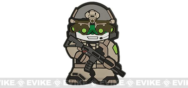Epik Panda Busty Panda PVC Rubber Hook and Loop Morale Patch