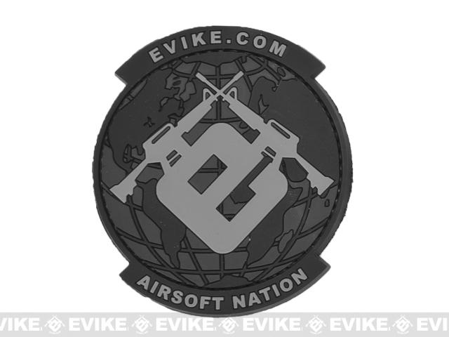 Evike.com Airsoft Nation PVC Morale Patch (Color: SWAT)