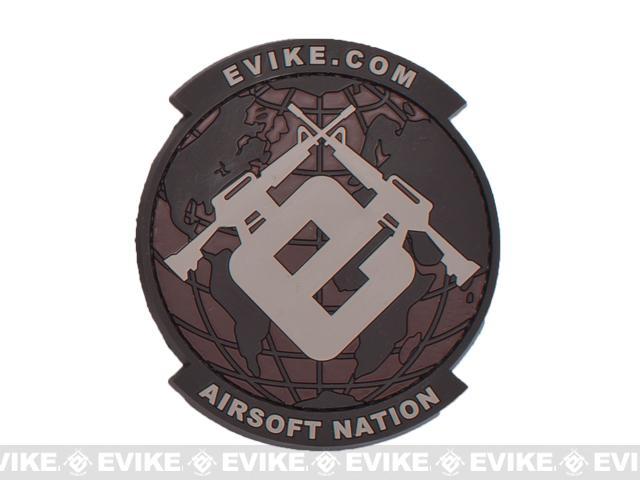 Evike.com Airsoft Nation PVC Morale Patch (Color: Desert)