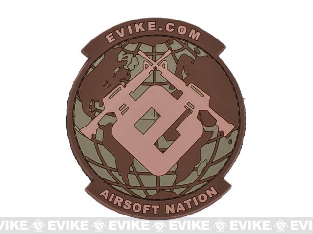 Evike.com Airsoft Nation PVC Morale Patch (Color: Land Camo)