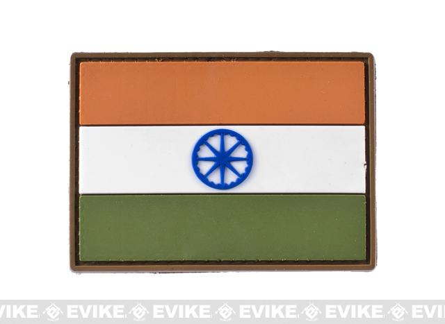 PVC Hook and Loop International Flag Patch (Flag: India)