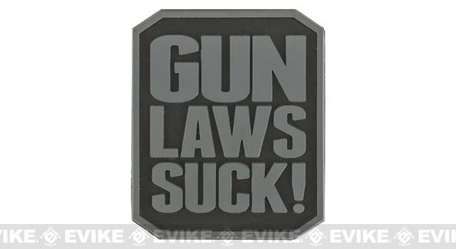 Gun Laws Suck PVC Hook and Loop Morale Patch - Subdued