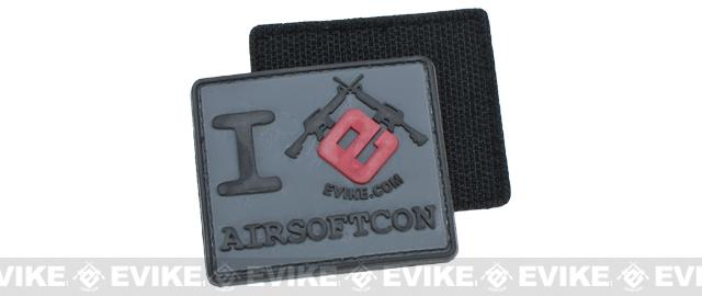 Evike I Heart AirsoftCon PVC Hook and Loop Morale Patch