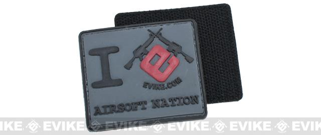 Evike I Heart Airsoft Nation PVC Hook and Loop Morale Patch