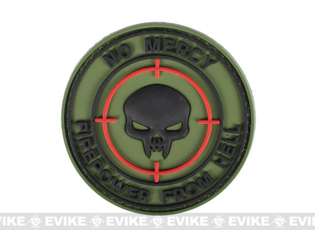 PVC IFF Hook and Loop Morale Patch - No Mercy Firepower From Hell