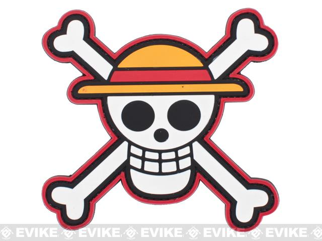 One Piece Straw Hat PVC Patch
