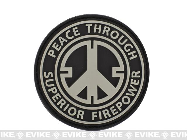 Matrix PVC Hook and Loop IFF Patch - Peace Through Superior Firepower (2.5)
