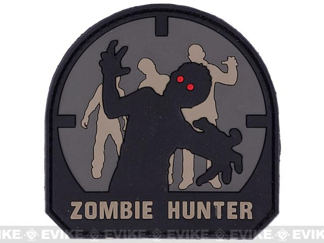 Zombie Hunter IFF PVC Rubber Hook and Loop Patch - 50mm / ACU