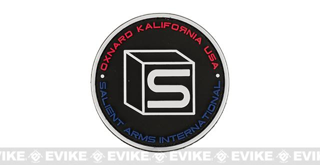 Salient Arms International Logo PVC Hook and Loop Morale Patch - Black / Multi