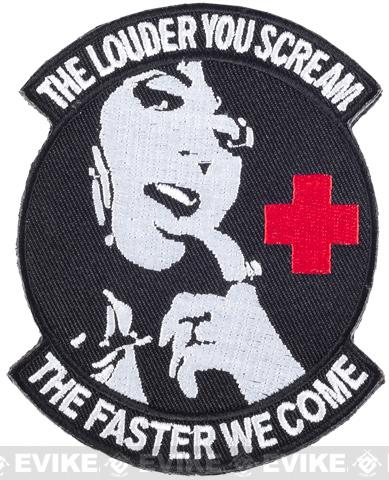 Matrix Hook and Loop IFF Patch (Style: Scream Faster Medic Morale Patch / Black & White )